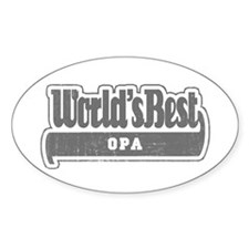WB Grandpa [German] Oval Decal
