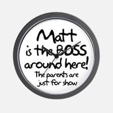 Matt is the Boss Wall Clock
