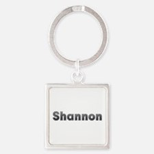 Shannon Metal Square Keychain