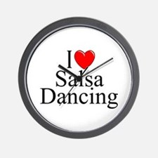 """I Love (Heart) Salsa Dancing"" Wall Clock"