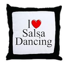 """""""I Love (Heart) Salsa Dancing"""" Throw Pillow"""