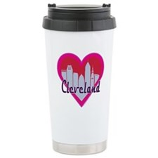Cleveland Skyline Heart Travel Mug
