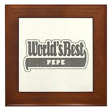 WB Grandpa [French Canadian] Framed Tile
