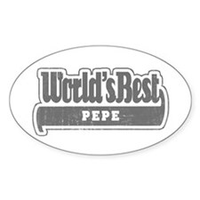 WB Grandpa [French Canadian] Oval Decal