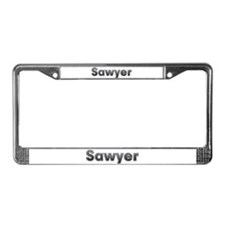 Sawyer Metal License Plate Frame