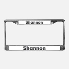 Shannon Metal License Plate Frame