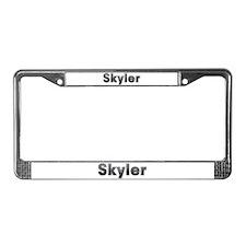 Skyler Metal License Plate Frame