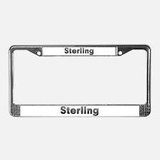 Sterling Metal License Plate Frame