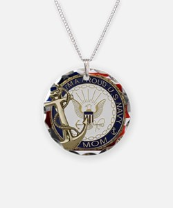 I'm A Proud Navy Mom Necklace