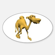 3D Style Cute Camel Oval Decal