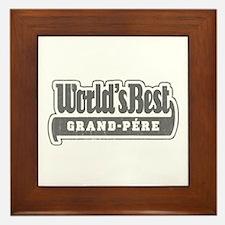 WB Grandpa [French] Framed Tile