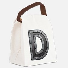 D Metal Canvas Lunch Bag