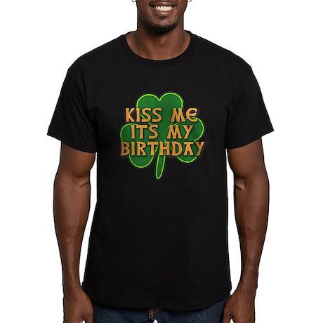 Irish Birthday with Sh Men's Fitted T-Shirt (dark)