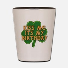 Irish Birthday with Shamrock Shot Glass
