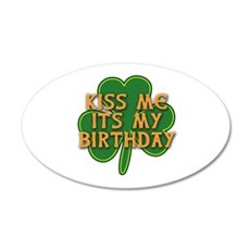 Irish Birthday with Shamrock Wall Decal
