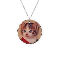 Calico with Rose Necklace
