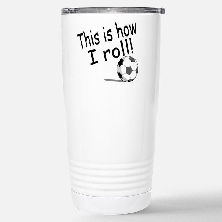 Cute Soccer baby Travel Mug