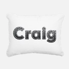 Craig Metal Rectangular Canvas Pillow