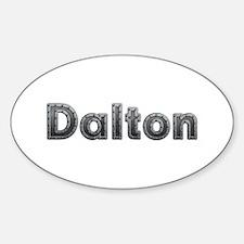 Dalton Metal Oval Decal