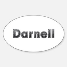 Darnell Metal Oval Decal