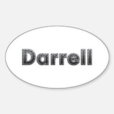 Darrell Metal Oval Decal