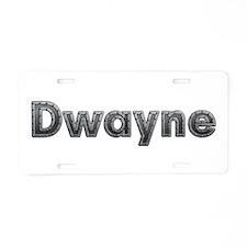 Dwayne Metal Aluminum License Plate