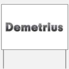 Demetrius Metal Yard Sign