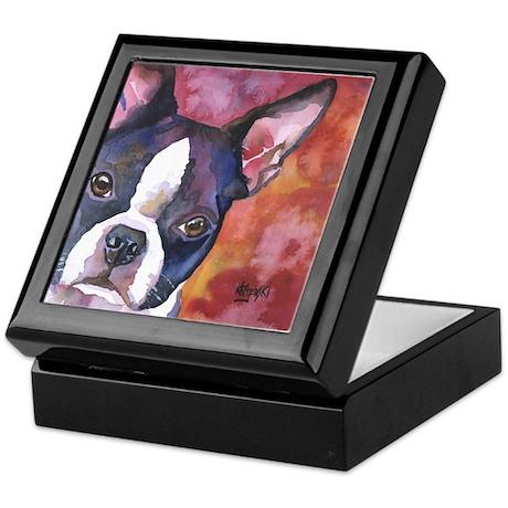 Boston Terrier #1 Keepsake Box