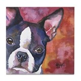 Boston terrier Tile Coasters