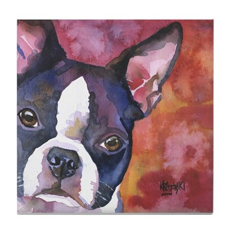 Boston Terrier #1 Tile Coaster