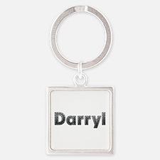 Darryl Metal Square Keychain