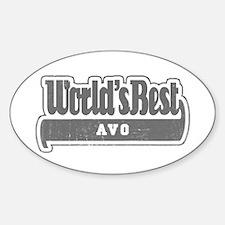 WB Grandpa [Esperanto] Oval Decal