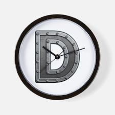 D Metal Wall Clock