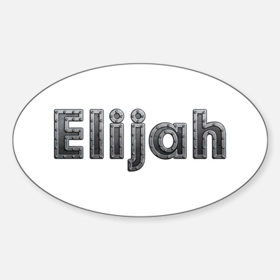 Elijah Metal Oval Decal