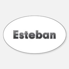 Esteban Metal Oval Decal