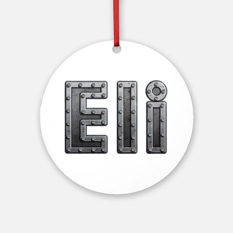 Eli Metal Round Ornament