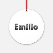 Emilio Metal Round Ornament