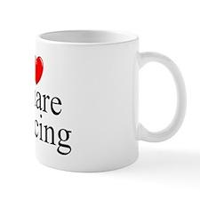 """I Love (Heart) Square Dancing"" Mug"