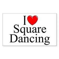 """I Love (Heart) Square Dancing"" Decal"