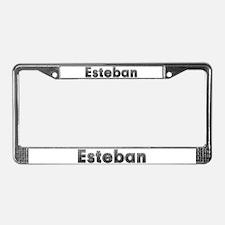 Esteban Metal License Plate Frame