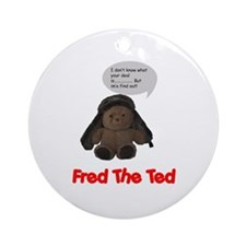 "In a Nutshell ""Fred the Ted"" Ornament (Round)"