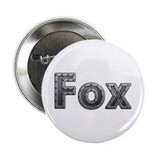 Fox Metal Button