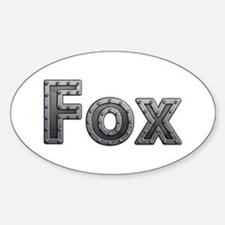 Fox Metal Oval Decal
