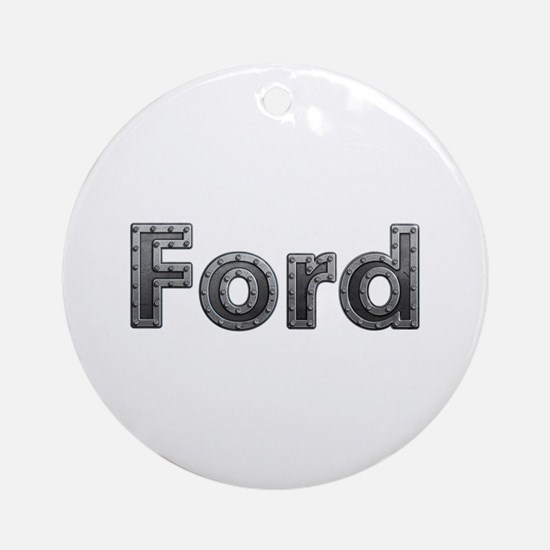 Ford Metal Round Ornament