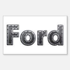 Ford Metal Rectangle Decal