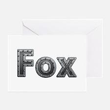 Fox Metal Greeting Card 20 Pack