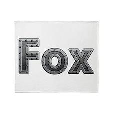 Fox Metal Throw Blanket