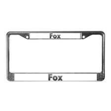 Fox Metal License Plate Frame