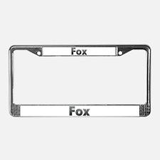 Fox Metal License Plate Frame