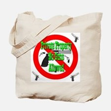 Private Property No Guns Allo Tote Bag